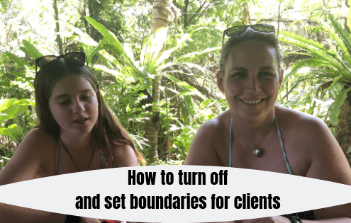 As a small business owner, you dedicate yourself completely to every client and setting boundaries when trying to get some downtime is not a straightforward task